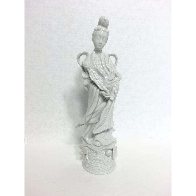 Image of Blanc De Chine Kwan Yin Goddess Figure