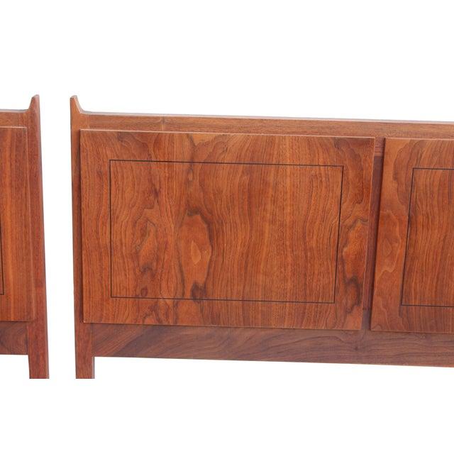 Image of Twin Mid-Century Walnut Headboards - A Pair