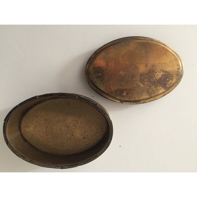 Vintage Bone and Brass Oval Trinket Box - Image 6 of 7
