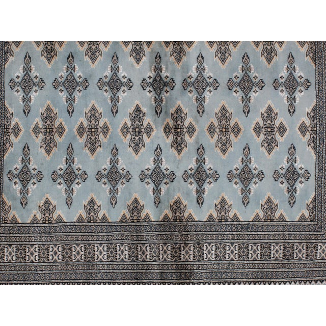 "Leon Banilivi Blue Royal Bokara Rug - 4'1"" X 6' - Image 5 of 7"
