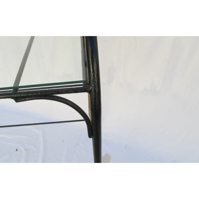 Image of Art Deco Wrought Iron Console