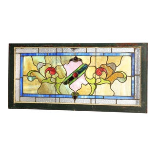 Salvaged Transom Stained Glass Window