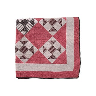 Diamond Patterned Pink Quilt