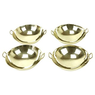 Brass Serving Bowls - Set of4