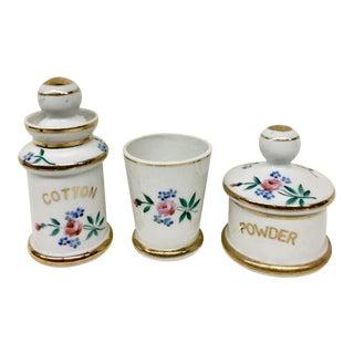 Porcelain Vanity Set - Set of 3