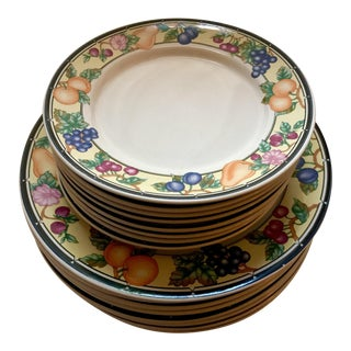 Oneida Orchard Select Dinner Plates & Salad Plates - Set of 16