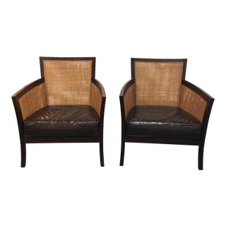 Crate & Barrel Blake Lounge Chairs - A Pair
