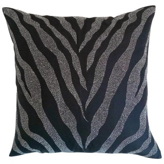 Black Zebra Print Pillow Cover