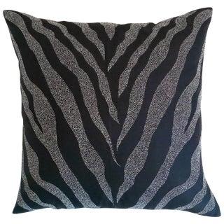 Black Zebra Print Pillow Cover