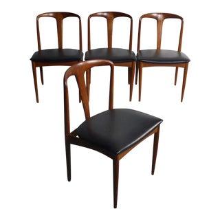 Danish Modern Johannes Andersen Teak Juliane Chairs - Set of 4