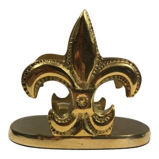 Brass Fleur De Lis Letter Holder