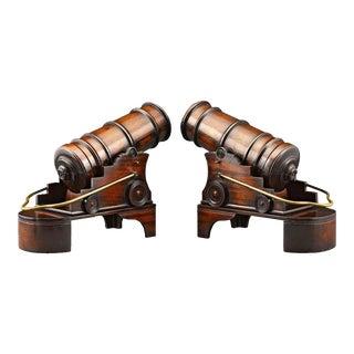Mahogany Cannon Wine Holders