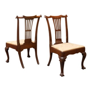 Extraordinary Set of Six Large Scale Period Irish Chippendale Side Chairs