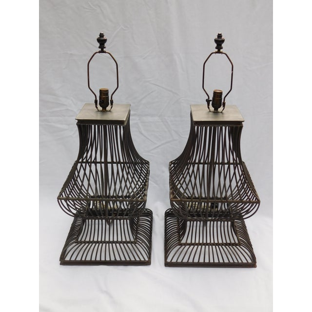 Industrial Table Lamps A Pair Chairish