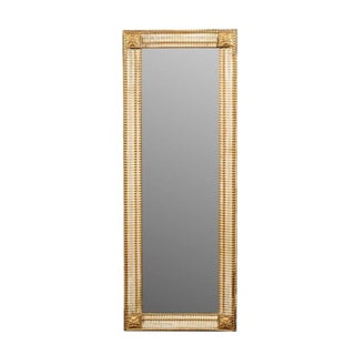 French Neoclassical Style Painted and Gilt Wooden Mirror, circa 1900