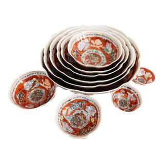 Eggshell Porcelain Nesting Bowls - Set of 10