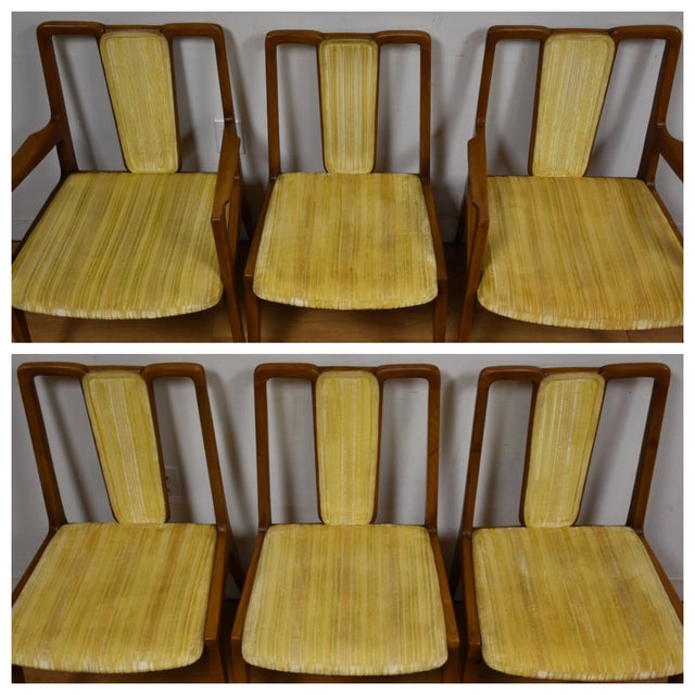 Mt. Airy Sculpted Walnut Dining Chairs - Set of 6 - Image 3 of 11