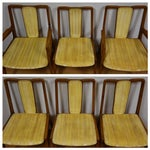 Image of Mt. Airy Sculpted Walnut Dining Chairs - Set of 6