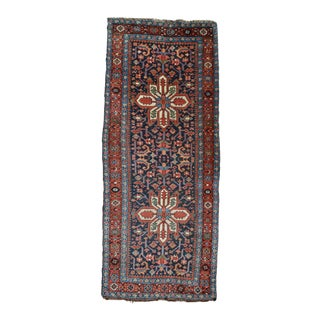 "Antique Persian Heriz Runner Rug - 3'6"" X 8'10"""
