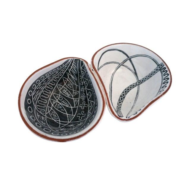 Image of Biomorphic Swedish Ceramic Catchall