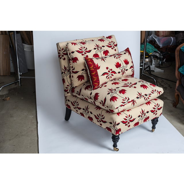 Lulu Dk Upholstered Chairs With Pillows - A Pair - Image 3 of 8
