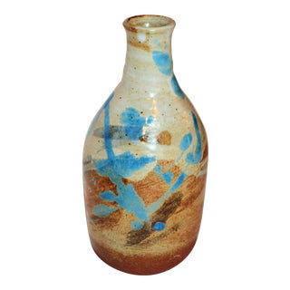 Howard Chiang Mai Hand Thrown & Painted Terra Cotta Pottery Bud Vase
