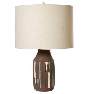 1960s Terra Cotta Ceramic Multicolored Table Lamp