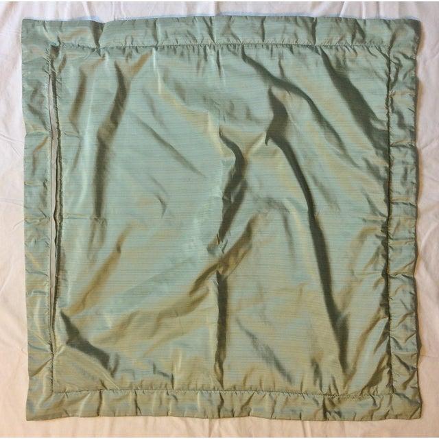 Aged Fortuny Fabric Euro Shams - Pair - Image 3 of 6