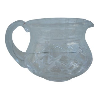 Stuart Crystal Cream Pitcher