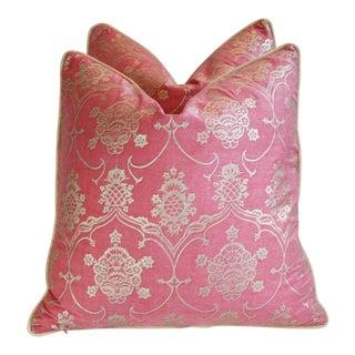 Custom Designer Italian Fortuny Veronese Pillows - Pair