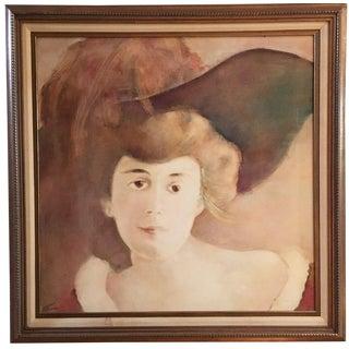 Vintage Impressionist Victorian Portrait Oil Painting