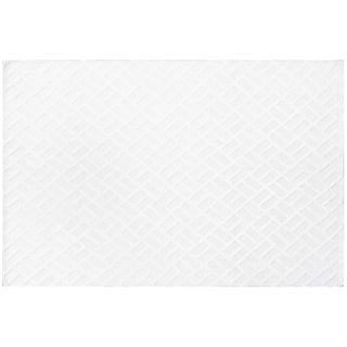 White Brick Wool Rug - 6′ × 9′