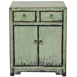 Distressed Side Chest in Sage