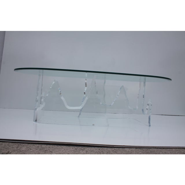 Lion in Frost Vintage Lucite Iceberg Coffee Table - Image 5 of 9