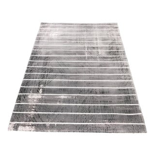 Contemporary Gray Striped Rug - 5' x 8'