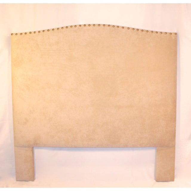 Custom Queen Neutral Tufted Headboard - Image 2 of 5