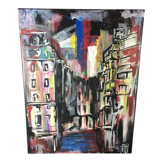 Oil on Canvas Cityscape