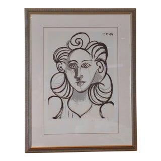 """Pablo Picasso """"Portrait De Femme"""" Lithograph"""