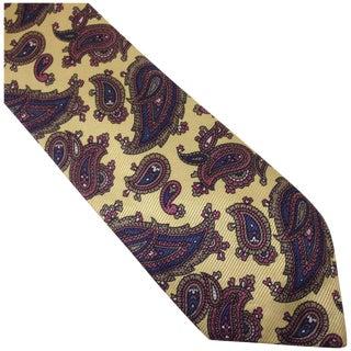 Vintage Silk Paisley Aquascutum Tie