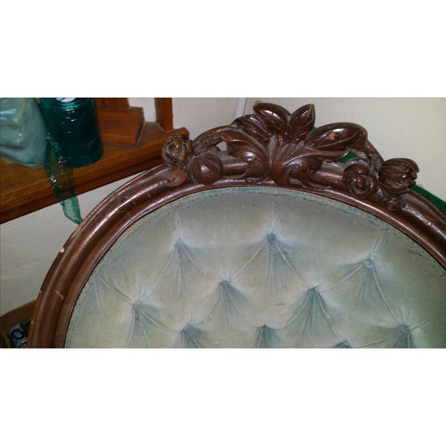 Antique Victorian Fainting Couch - Image 7 of 10