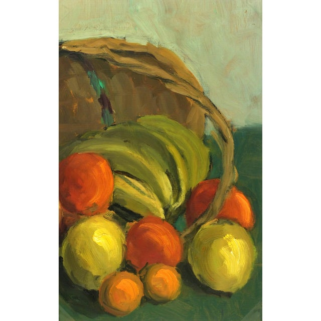 Vintage 1968 Cornucopia Oil Painting - Image 1 of 3