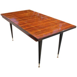 Beautiful French Art Deco Macassar Ebony Dining Table Circa 1940s.