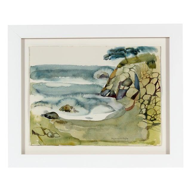 """Coastal Rocks, California"" Watercolor - Image 1 of 3"