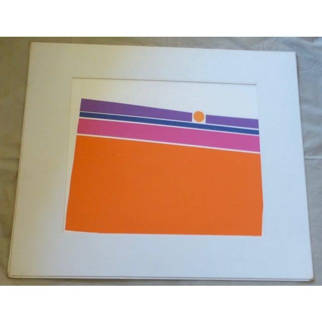 """Orange Landscape"" a Mod Print by Calvin Libby - Image 8 of 8"