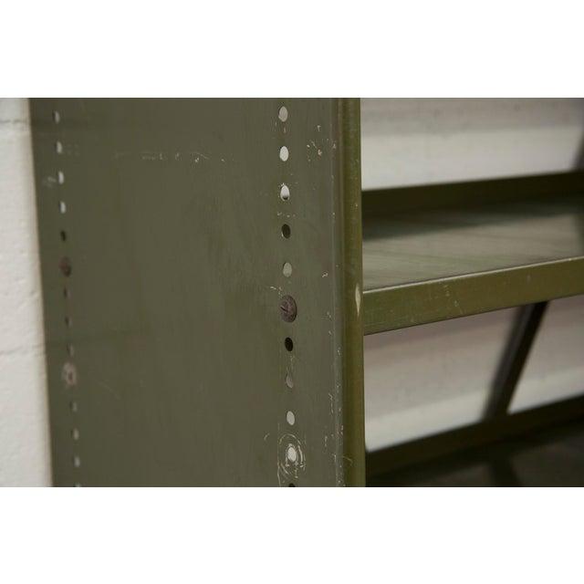 Industrial Military Sheet Metal Bookshelf - Image 5 of 10