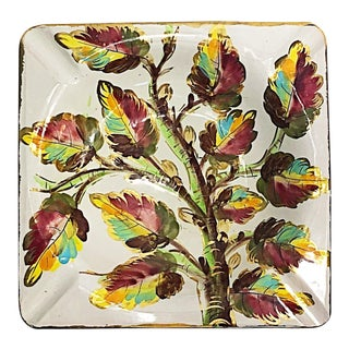 Italian Floral Ashtray Dish