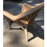 Image of Vintage 1940s Wicker Carved Swan Chairs - A Pair