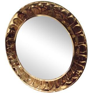 Very Rare Round Wall Mirror by Max Ingrand for Fontana Arte, Italy circa 1955
