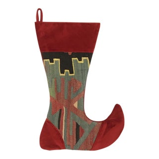 Large Kilim Christmas Stocking | Eggnog