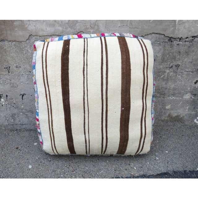 Moroccan Floor Pillows: Pink Striped Moroccan Floor Pillow